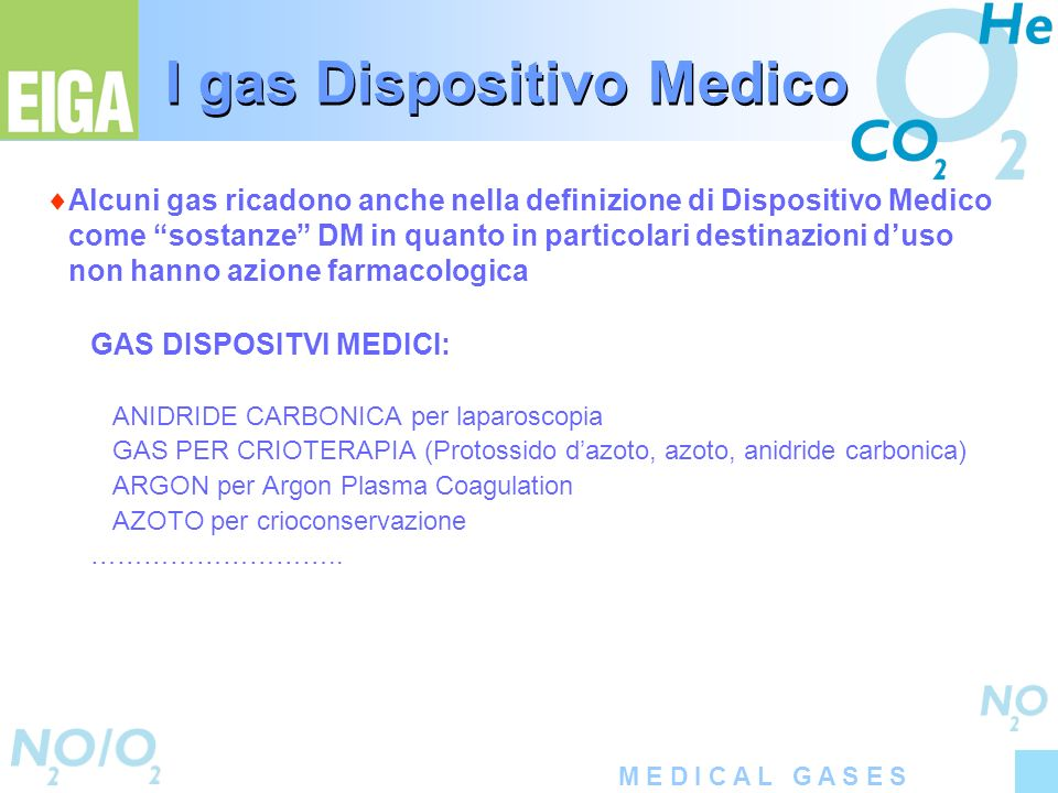 I gas Dispositivo Medico