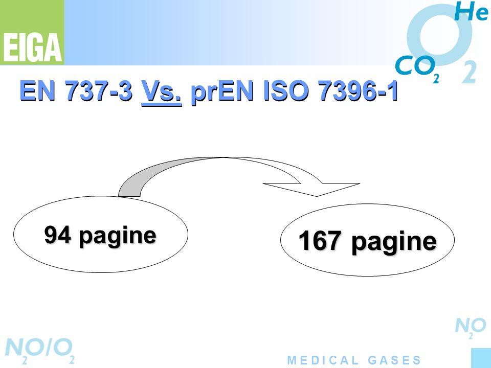 EN 737-3 Vs. prEN ISO 7396-1 94 pagine 167 pagine