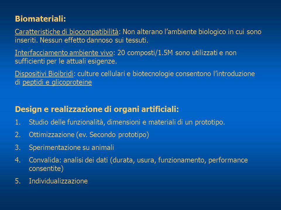 Design e realizzazione di organi artificiali: