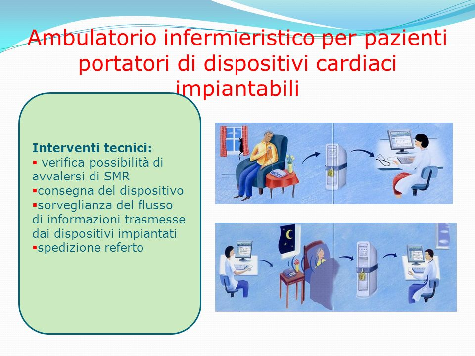Ambulatorio infermieristico per pazienti portatori di dispositivi cardiaci impiantabili