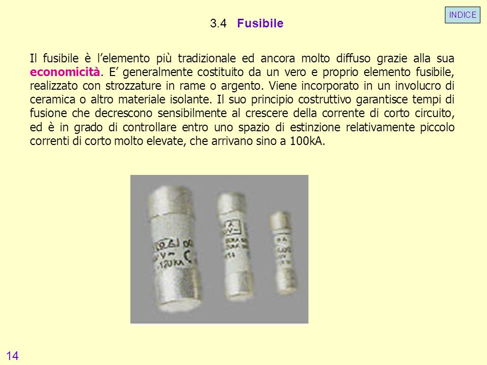 INDICE 3.4 Fusibile.
