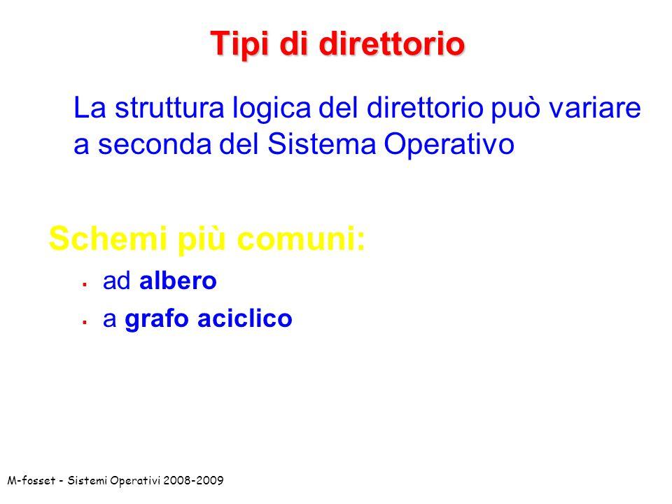 Tipi di direttorio Schemi più comuni: