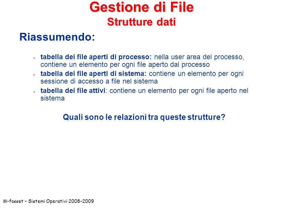 Gestione di File Strutture dati