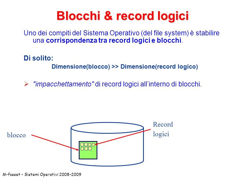 Blocchi & record logici