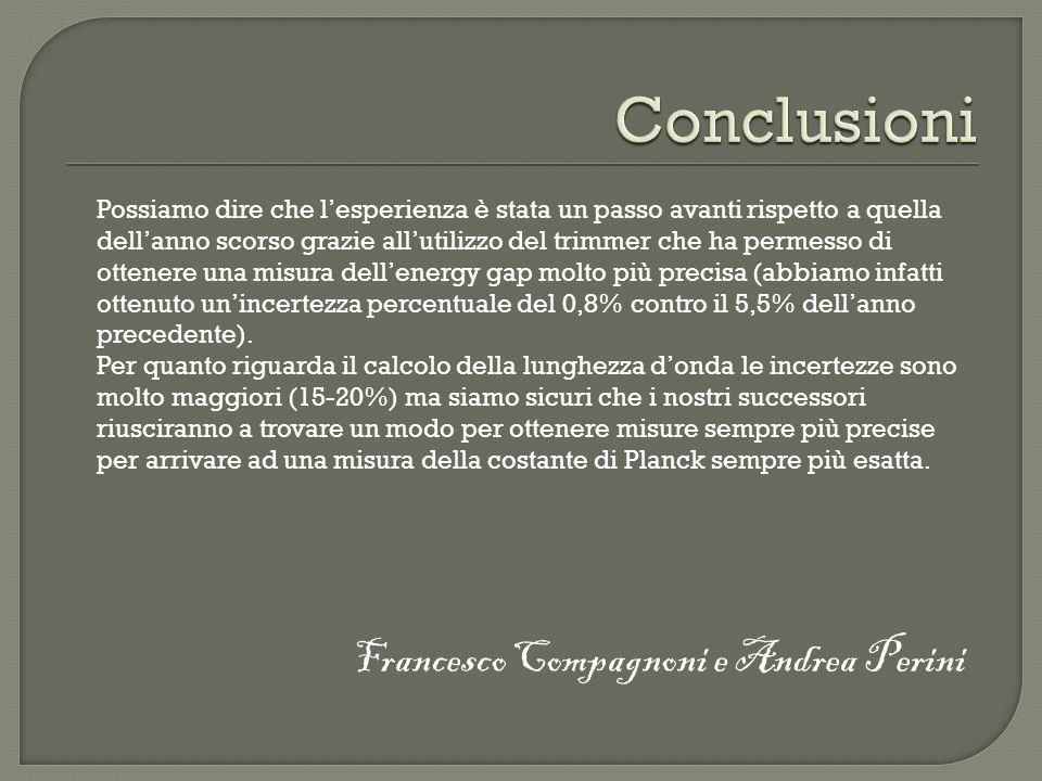 Conclusioni Francesco Compagnoni e Andrea Perini