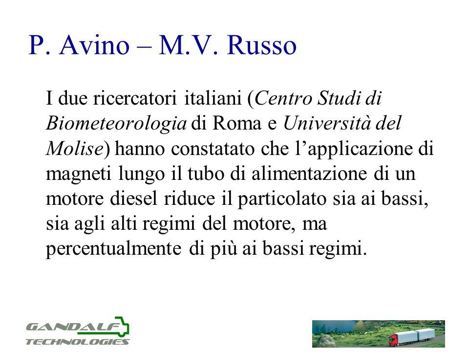 P. Avino – M.V. Russo