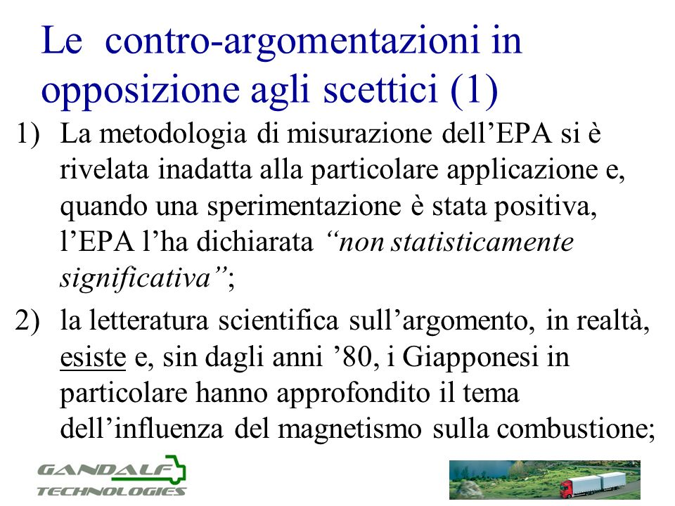 Le contro-argomentazioni in opposizione agli scettici (1)
