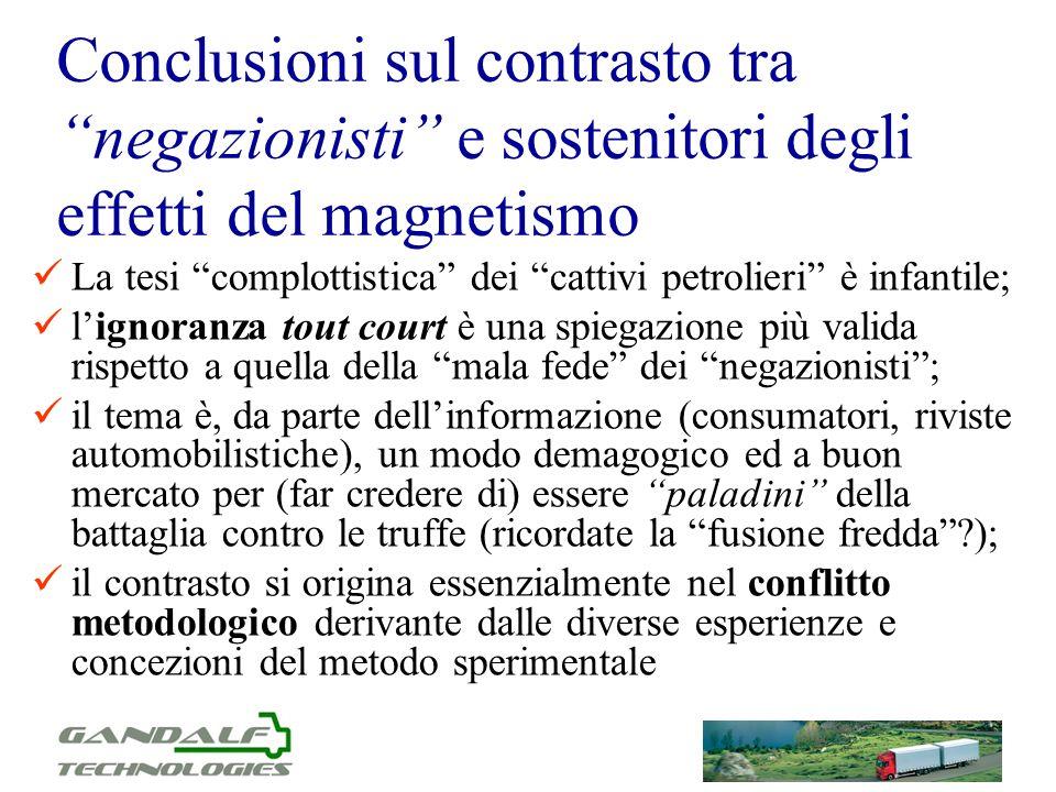 Conclusioni sul contrasto tra negazionisti e sostenitori degli effetti del magnetismo