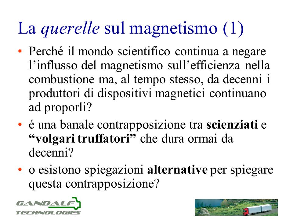 La querelle sul magnetismo (1)