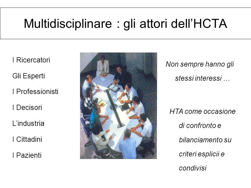 Multidisciplinare : gli attori dell'HCTA