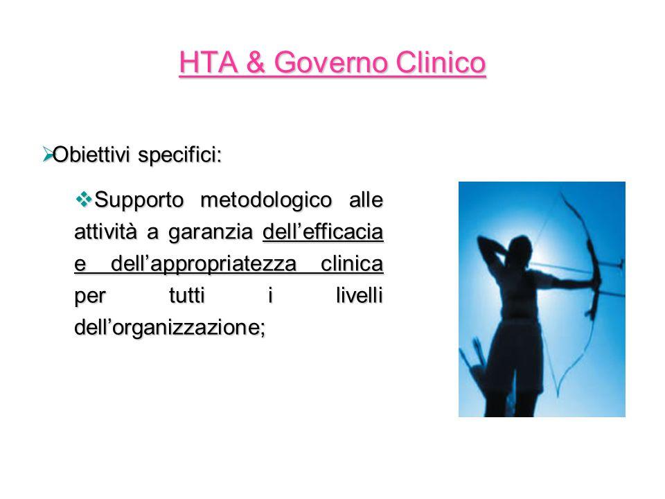 HTA & Governo Clinico Obiettivi specifici: