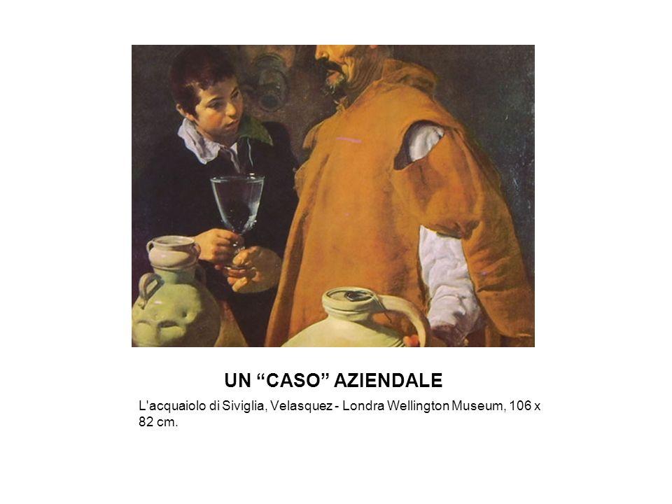 UN CASO AZIENDALE L acquaiolo di Siviglia, Velasquez - Londra Wellington Museum, 106 x 82 cm.