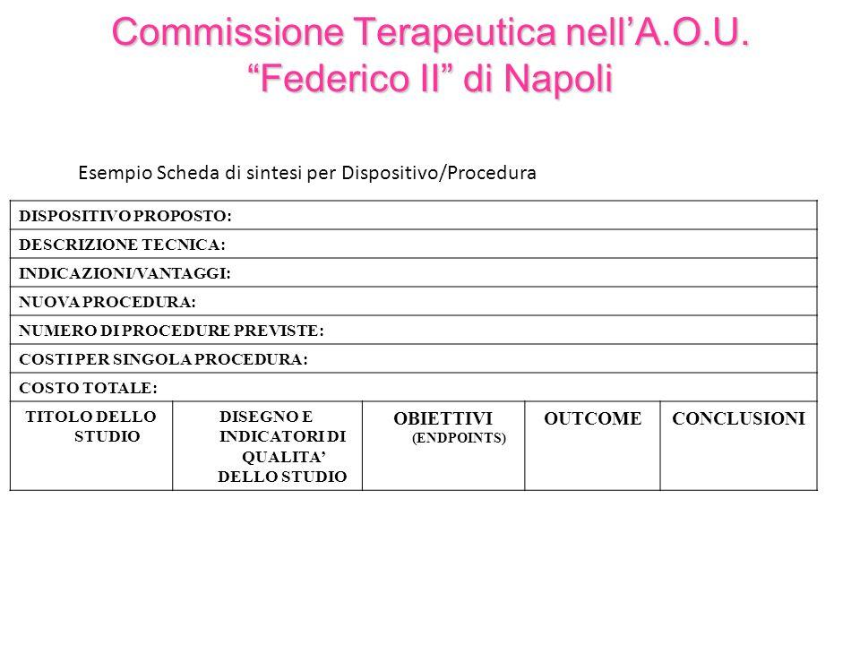 Commissione Terapeutica nell'A.O.U. Federico II di Napoli