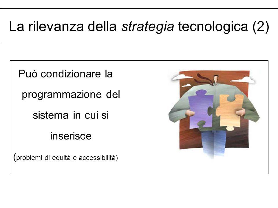 La rilevanza della strategia tecnologica (2)