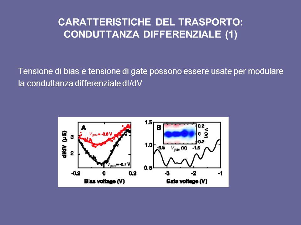 CARATTERISTICHE DEL TRASPORTO: CONDUTTANZA DIFFERENZIALE (1)