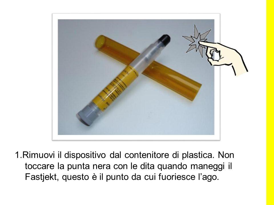 1. Rimuovi il dispositivo dal contenitore di plastica