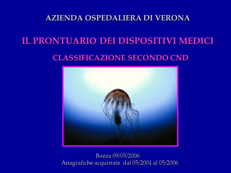 AZIENDA OSPEDALIERA DI VERONA IL PRONTUARIO DEI DISPOSITIVI MEDICI