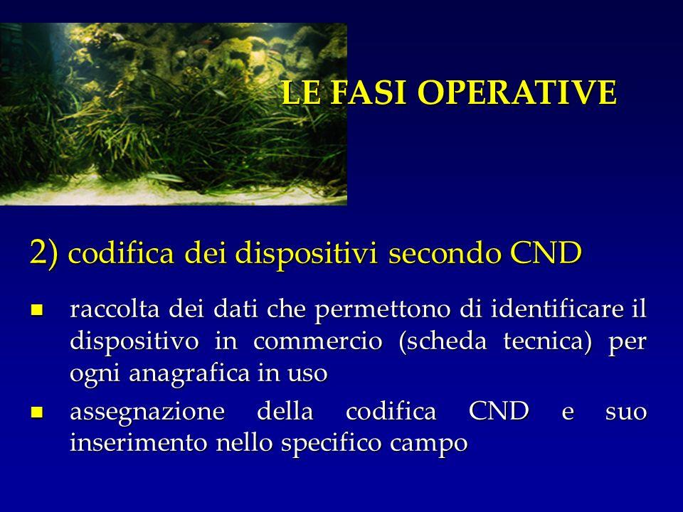 2) codifica dei dispositivi secondo CND