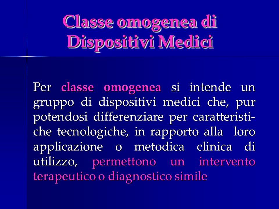Classe omogenea di Dispositivi Medici