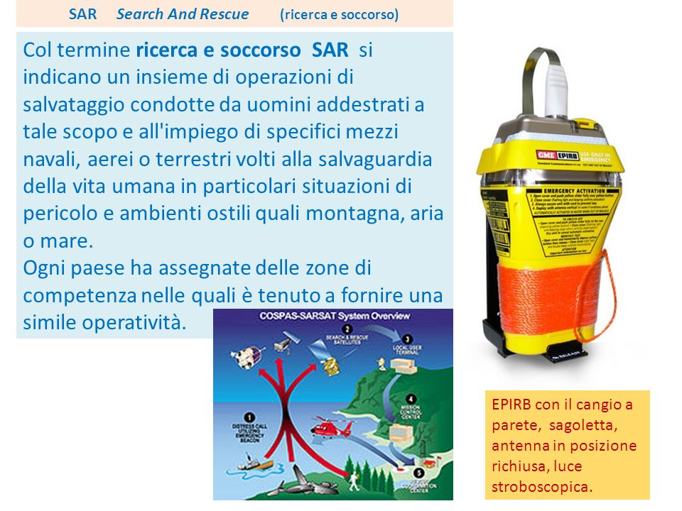 SAR Search And Rescue (ricerca e soccorso)