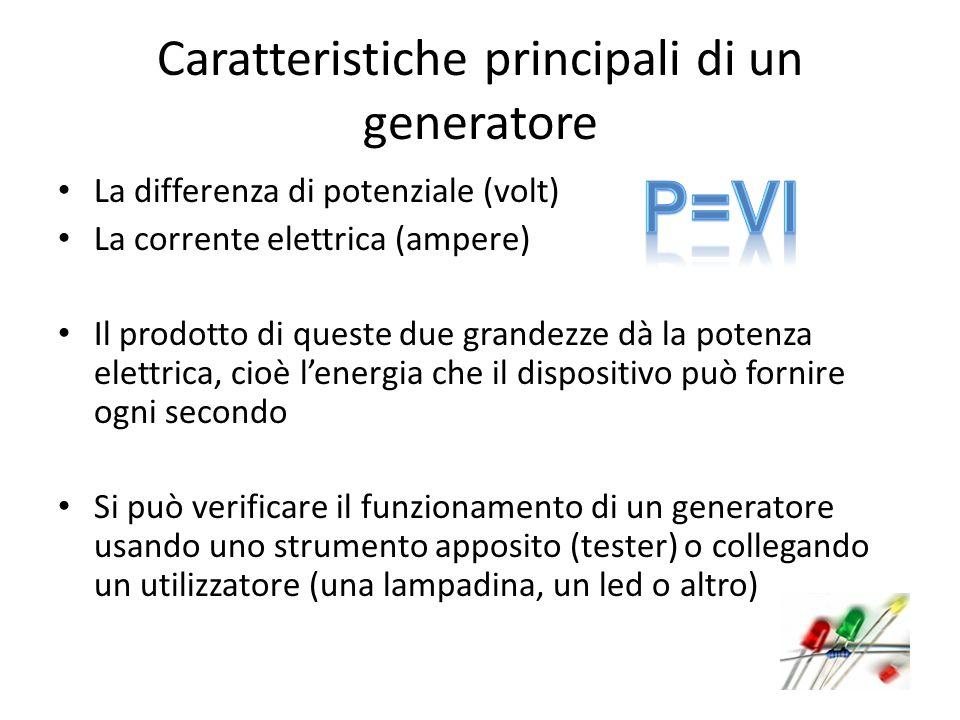 Caratteristiche principali di un generatore