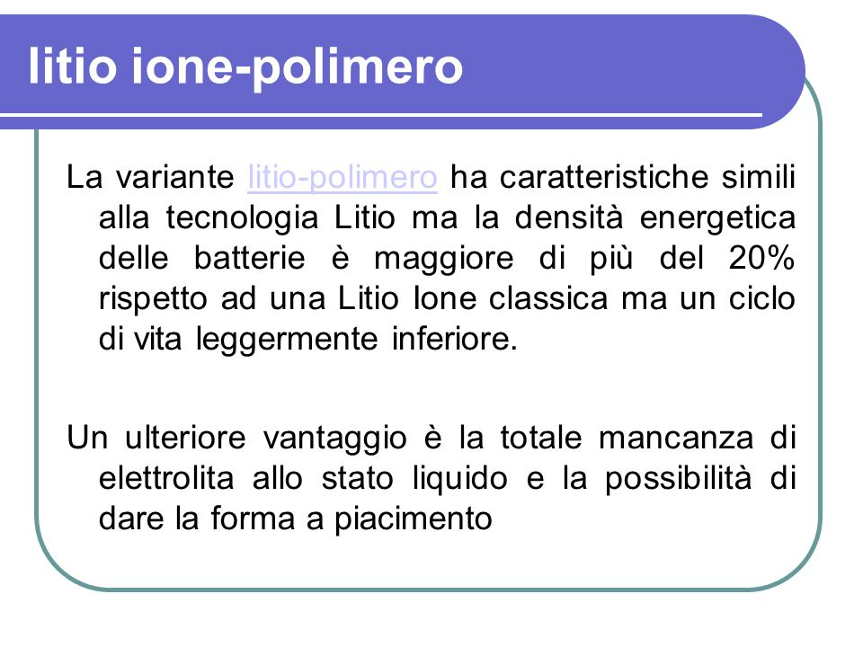 litio ione-polimero
