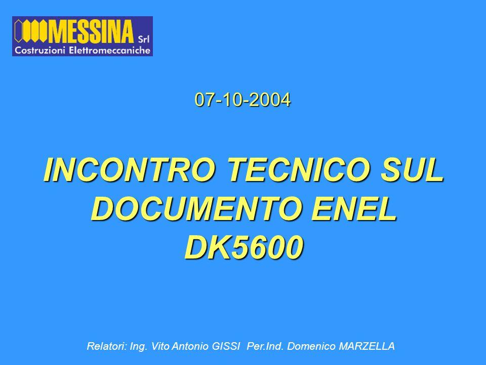 INCONTRO TECNICO SUL DOCUMENTO ENEL