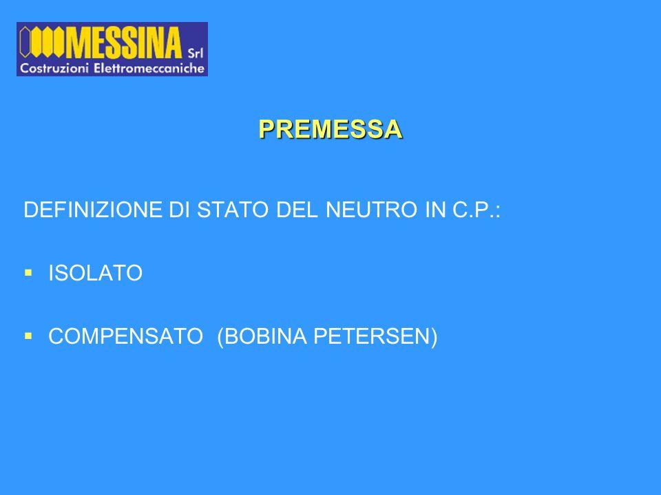 PREMESSA DEFINIZIONE DI STATO DEL NEUTRO IN C.P.: ISOLATO
