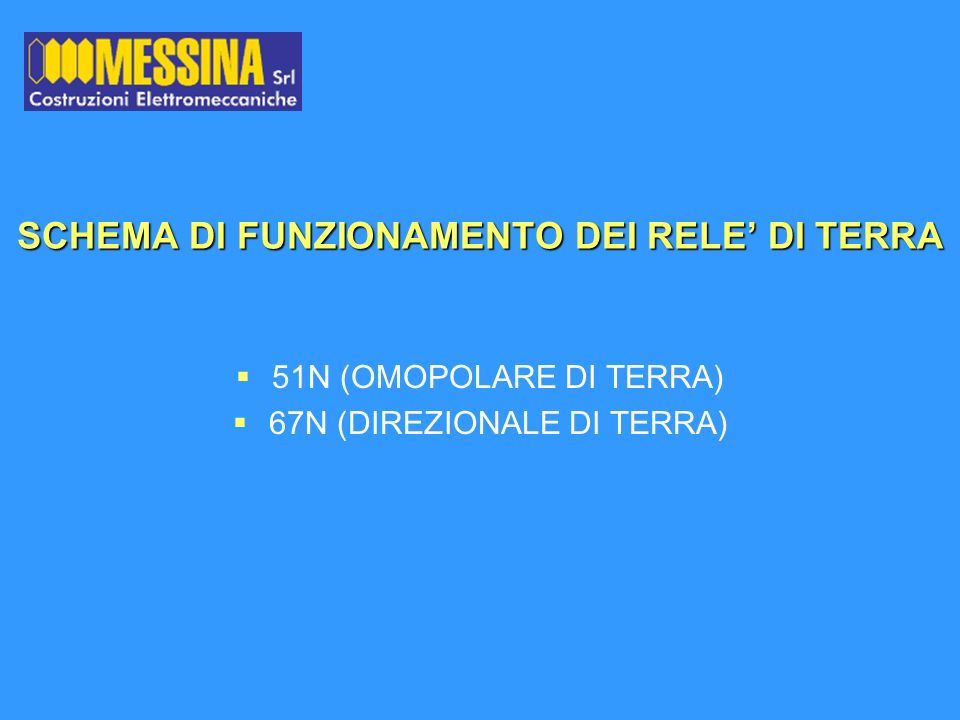 SCHEMA DI FUNZIONAMENTO DEI RELE' DI TERRA