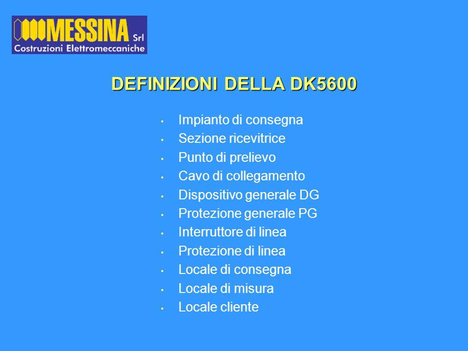 DEFINIZIONI DELLA DK5600 Impianto di consegna Sezione ricevitrice