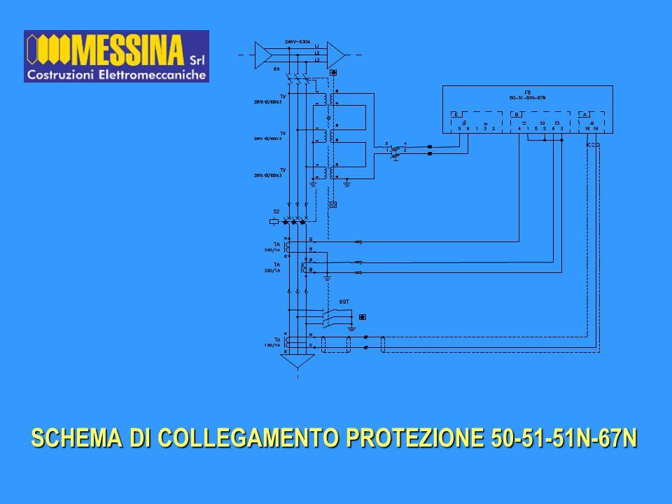 SCHEMA DI COLLEGAMENTO PROTEZIONE 50-51-51N-67N