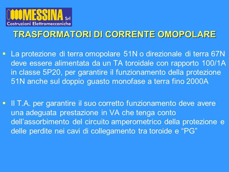 TRASFORMATORI DI CORRENTE OMOPOLARE