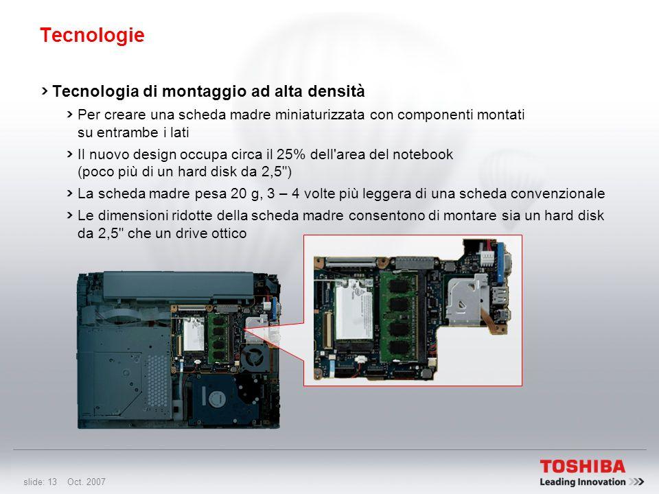 Tecnologie Tecnologia di montaggio ad alta densità