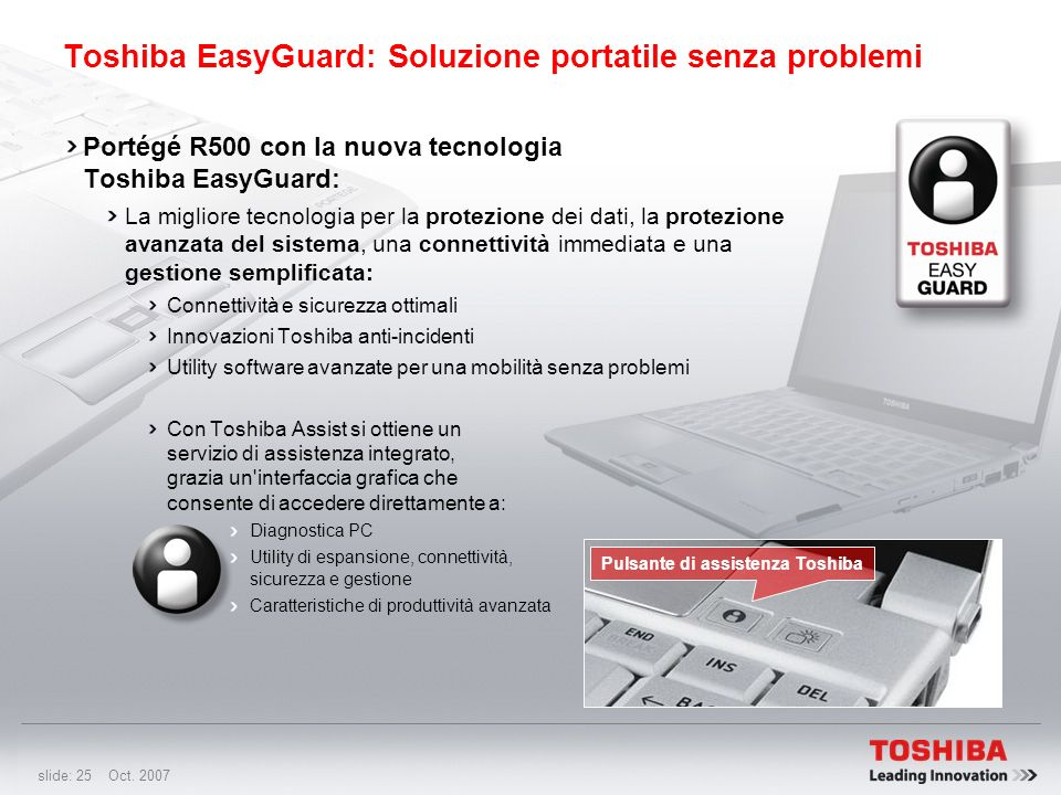 Toshiba EasyGuard: Soluzione portatile senza problemi