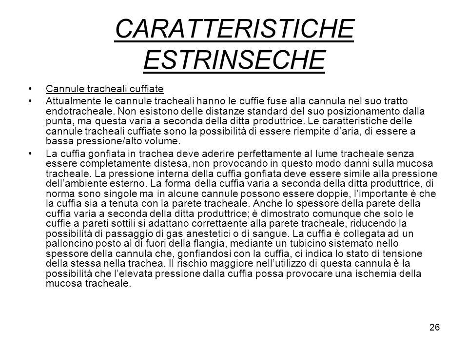 CARATTERISTICHE ESTRINSECHE