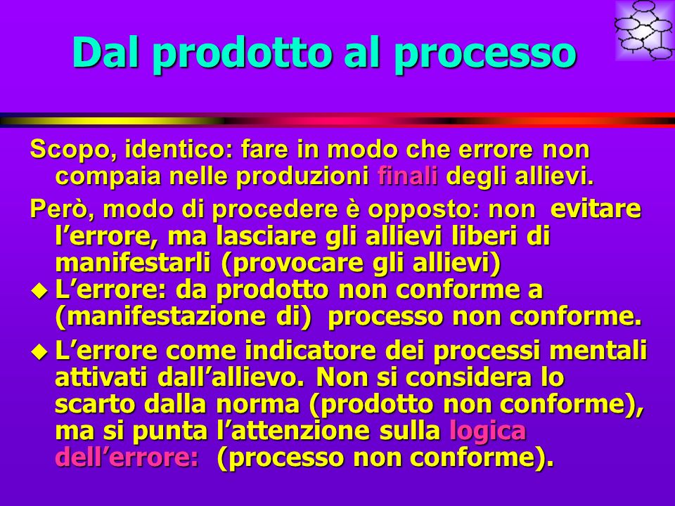 Dal prodotto al processo
