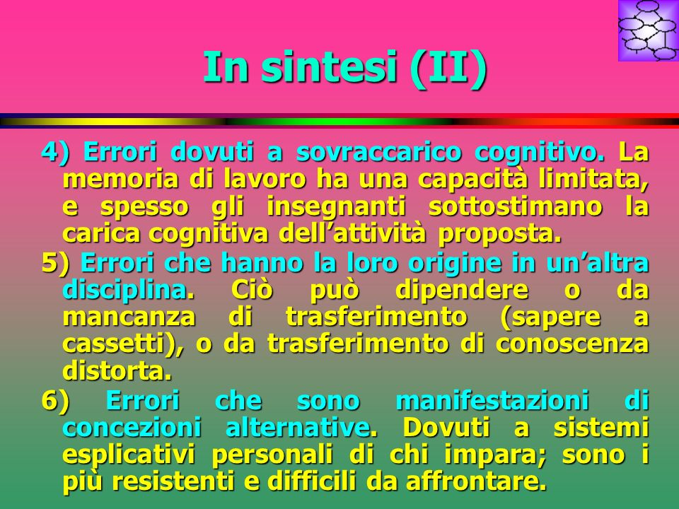 In sintesi (II)
