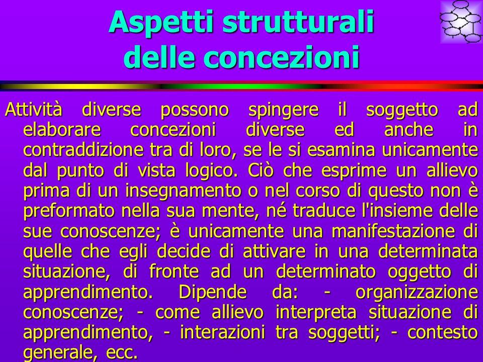 Aspetti strutturali delle concezioni