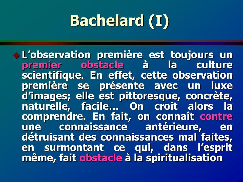 Bachelard (I)