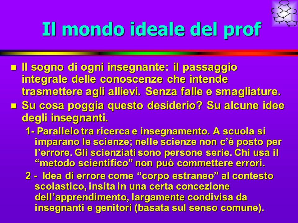 Il mondo ideale del prof