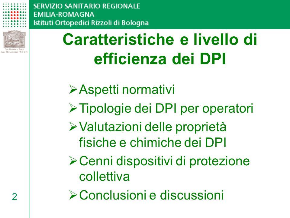 Caratteristiche e livello di efficienza dei DPI