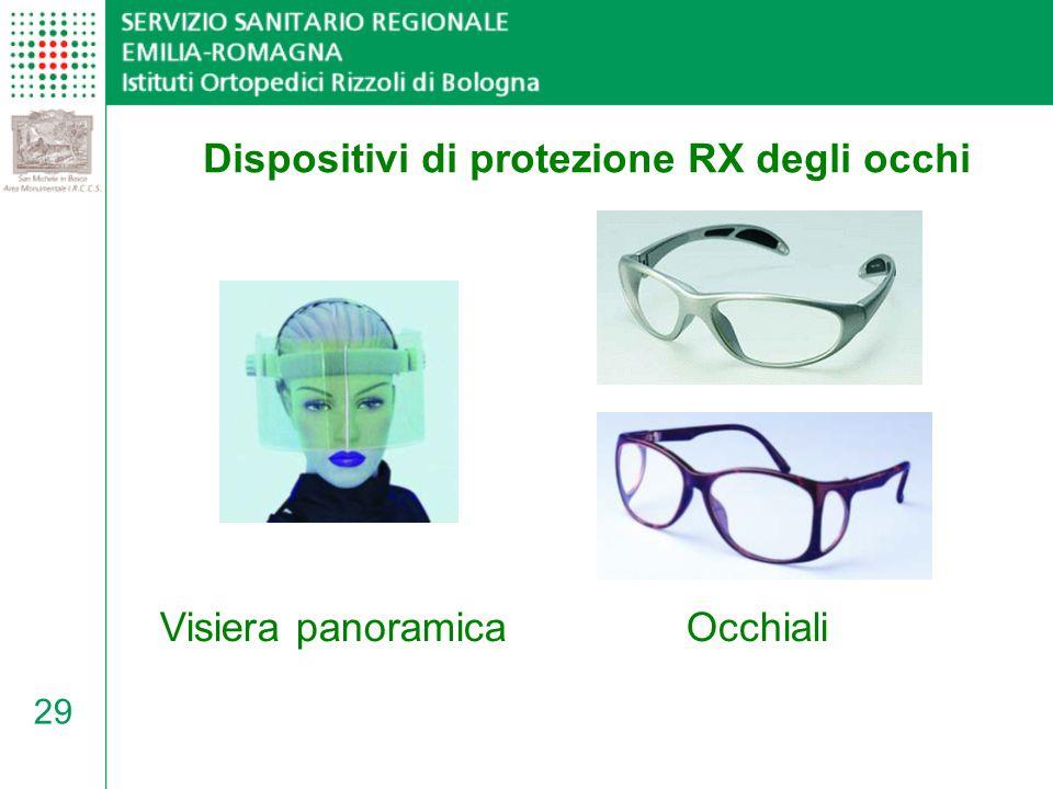 Dispositivi di protezione RX degli occhi