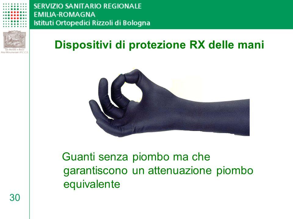 Dispositivi di protezione RX delle mani