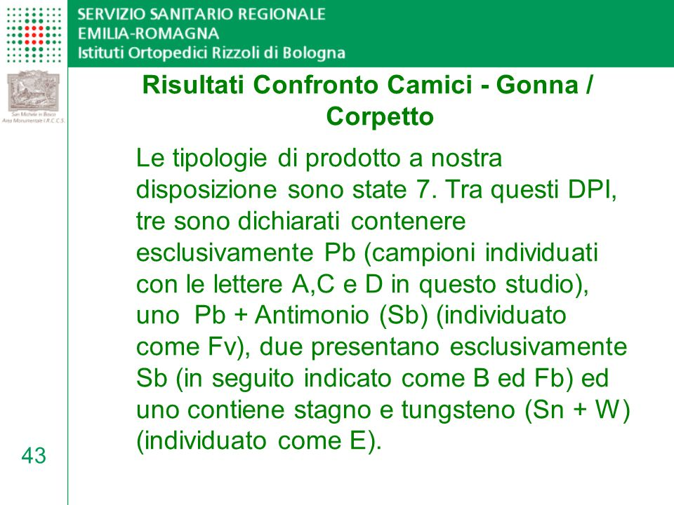 Risultati Confronto Camici - Gonna / Corpetto