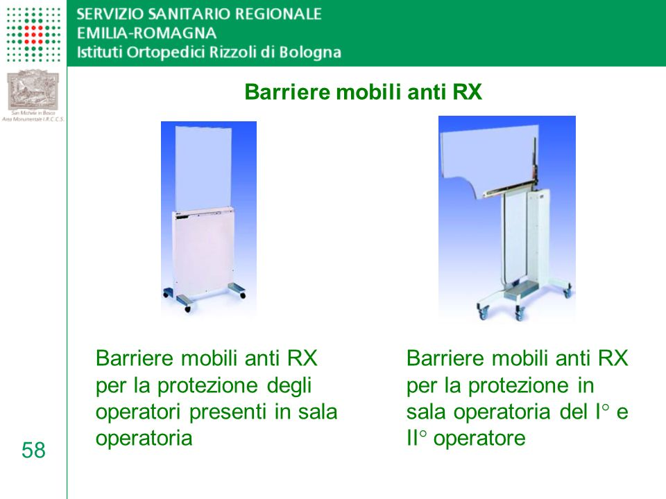 Barriere mobili anti RX