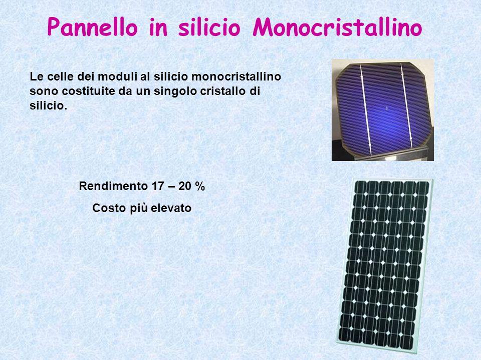 Pannello in silicio Monocristallino