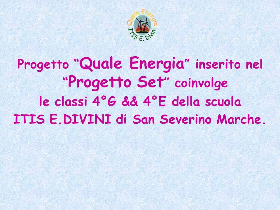 Progetto Quale Energia inserito nel Progetto Set coinvolge