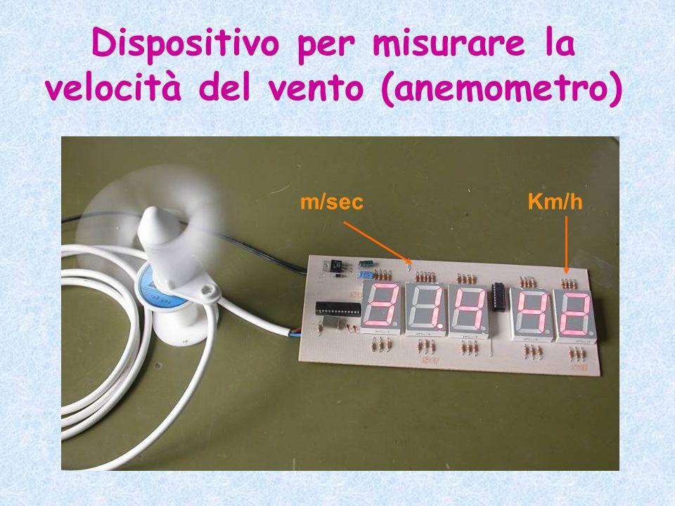 Dispositivo per misurare la velocità del vento (anemometro)
