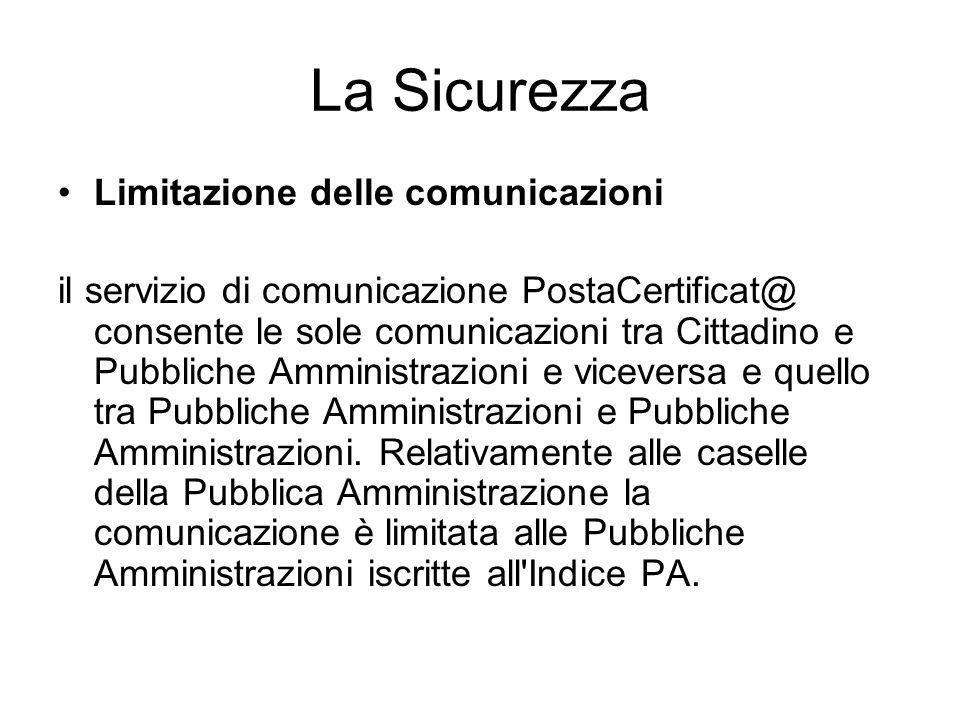 La Sicurezza Limitazione delle comunicazioni