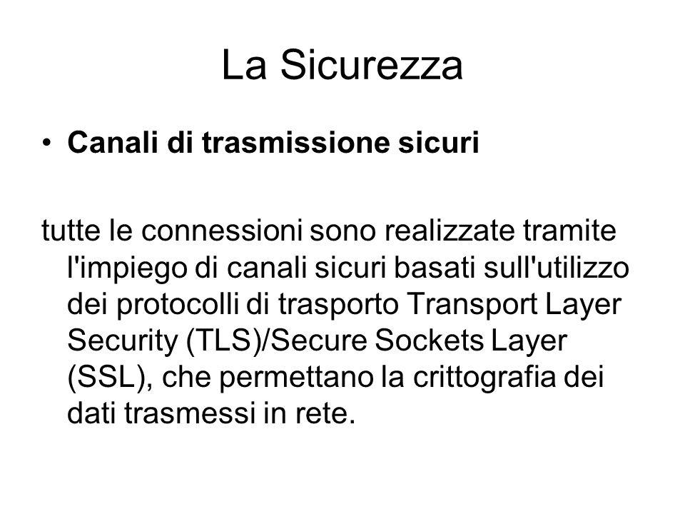 La Sicurezza Canali di trasmissione sicuri